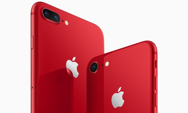 iPhone 8 and iPhone 8 Plus in PRODUCT(RED) version